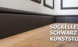 Sockelleisten Schwarz Kunststoff als Kontrastprogramm